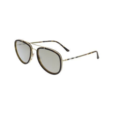 Burberry Men's Mirrored BE3090Q-10525A-58 Brown Aviator (Burberry Men Sunglasses)