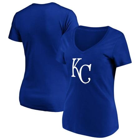 Women's Majestic Royal Kansas City Royals Top Ranking V-Neck - Plaza Kansas City