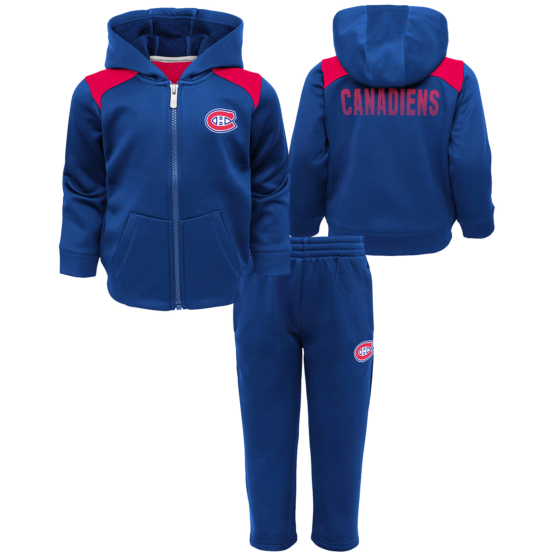 Outerstuff Youth Montreal Canadiens NHL Catcher Performance Fleece Set - image 2 of 2