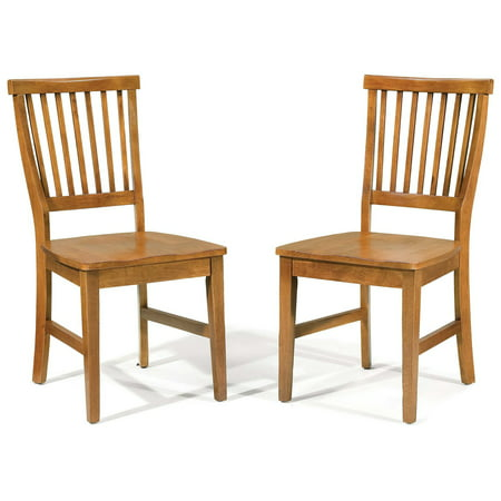 - Home Styles Arts & Crafts Side Chair - Set of 2, Cottage Oak