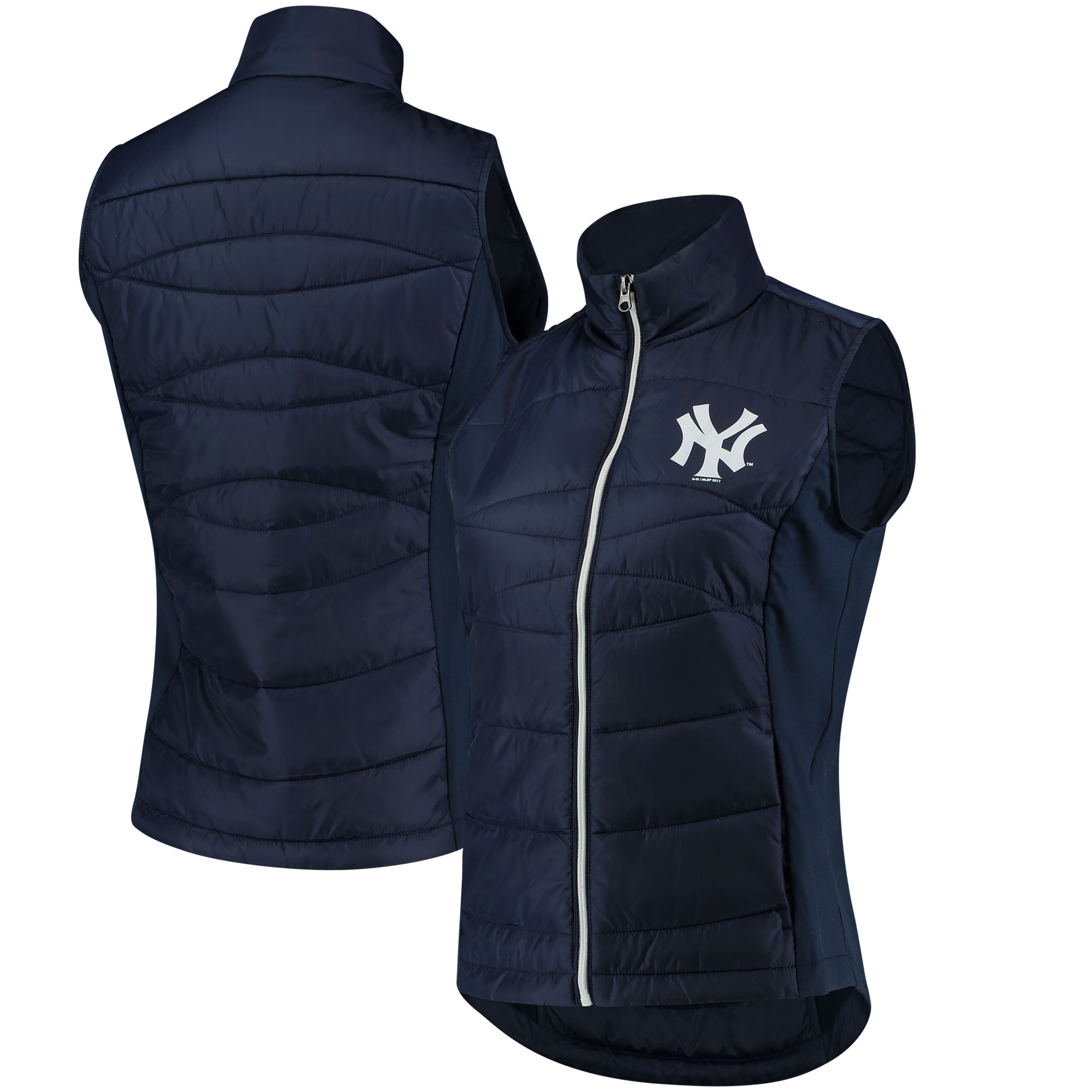 New York Yankees G-III 4Her by Carl Banks Women's Wing Back Vest - Navy