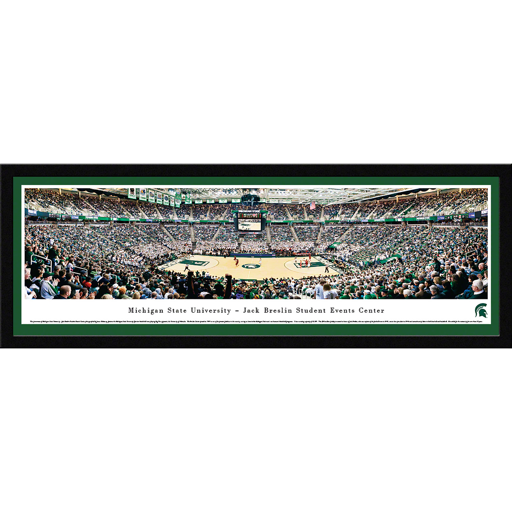 Michigan State Spartans Basketball At Jack Breslin Student Events Center Blakeway Panoramas Ncaa College Print With Select Frame And Single Mat Walmart Com Walmart Com