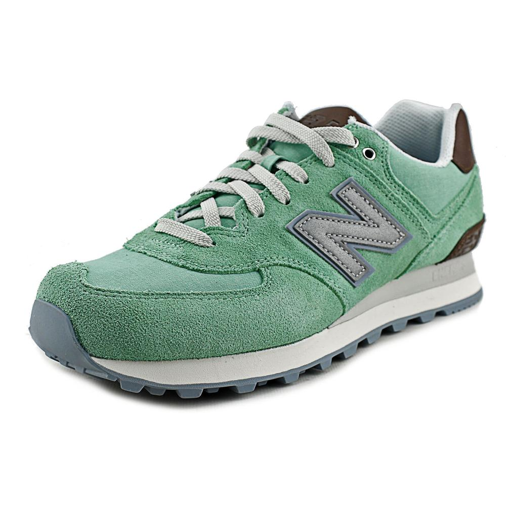 New Balance WL574 Women Round Toe Synthetic Green Sneakers by New Balance