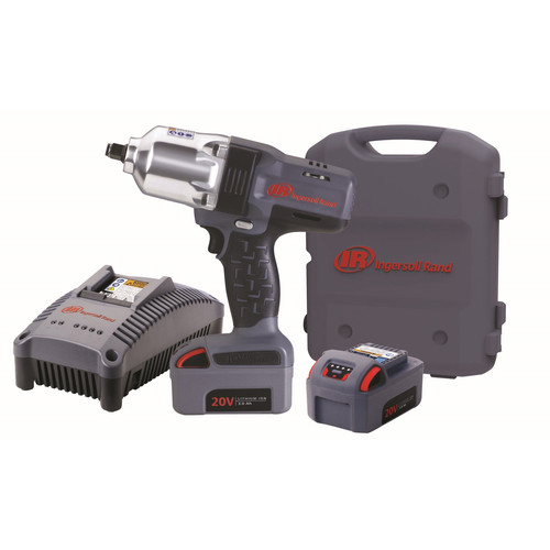 Ingersoll-Rand W7150-K2 Cordless Impact Wrench Kit, 20 V, Lithium-Ion, 0 2300 bpm by Ingersoll-Rand