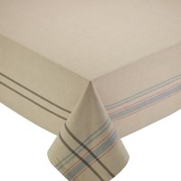"""Design Imports Natural French Stripe Tablecloth 60 x 84"""" by Design Imports"""
