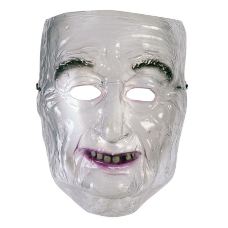 Transparent Mask - Old Man Halloween Costume Accessory](Old Fashioned Plastic Halloween Masks)
