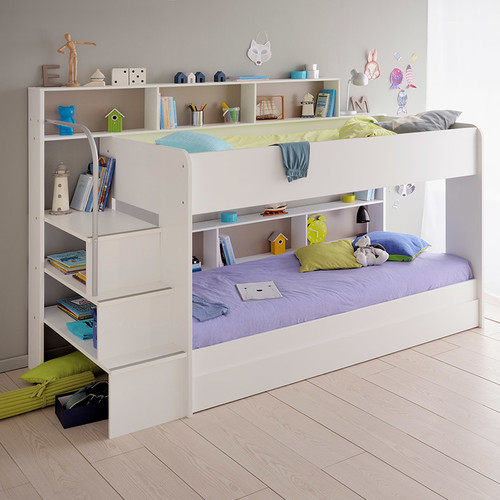 Parisot Bibop 2 Twin Over Twin Bunk Bed with Trundle by