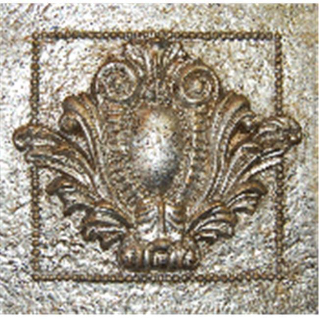 HMH 7028GS Single Crest Tile in Gilt Silver Finish