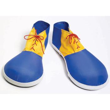 CLOWN SHOES-EVA BLUE/YLW CHILD - Kids Clown Shoes