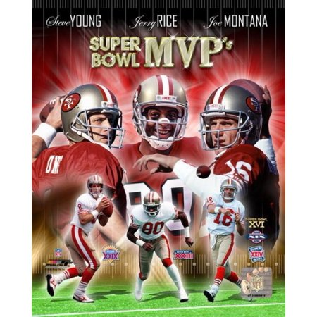 San Francisco 49Ers Super Bowl Mvps Composite Photo Print