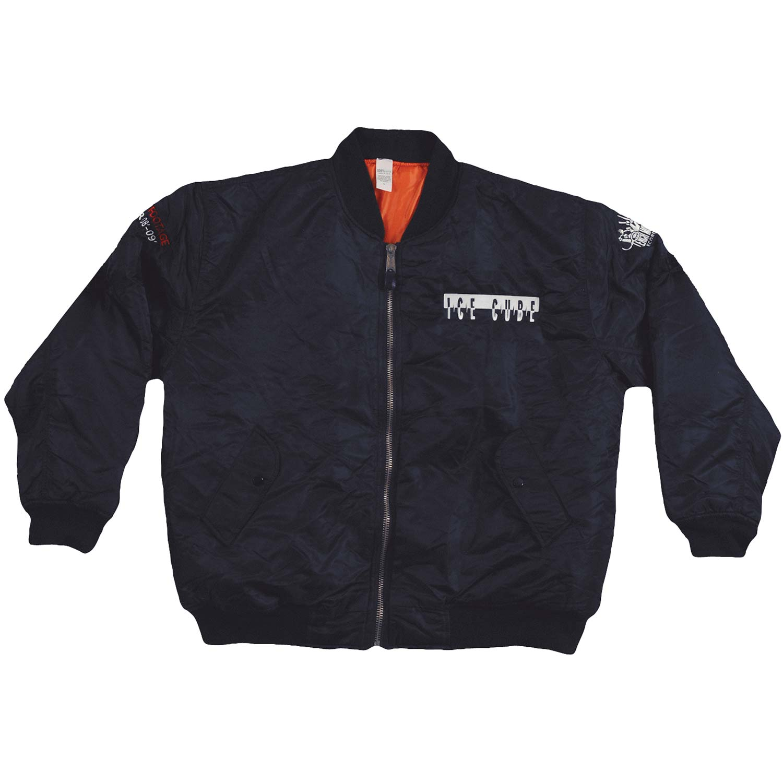 Ice Cube Men's  Embroidered Bomber Jacket Jacket Black