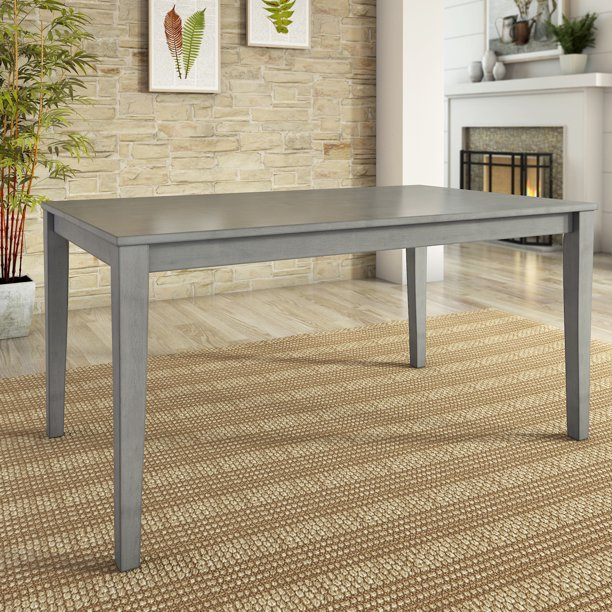 "Lexington Large 60"" Wood Dining Table, Antique Grey"