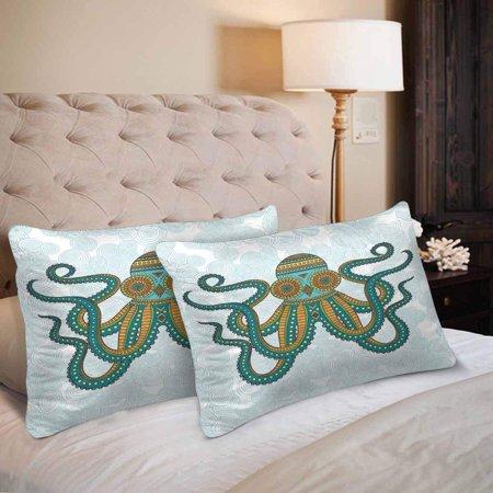 GCKG Funny Animal Octopus Pillow Cases Pillowcase 20x30 inches Set of 2 - image 3 de 4