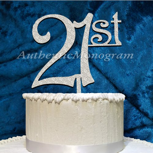 aMonogram Art Unlimited 21St Wooden Cake Topper