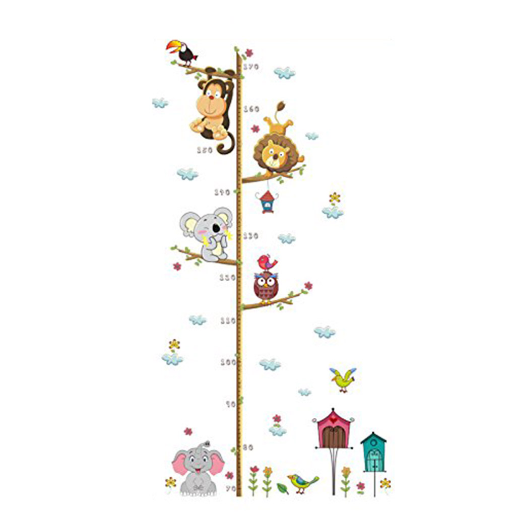 Children Height Growth Chart Measure Wall Sticker Kids Room Decor Fashion Decal