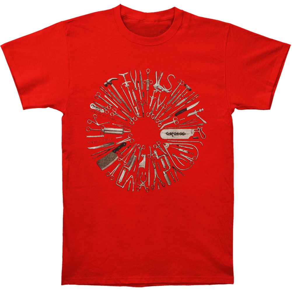 Carcass Men's  Surgical Remission Red T-shirt Red