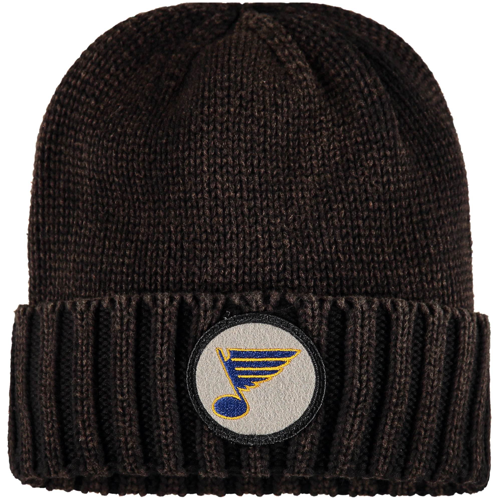 St. Louis Blues Mitchell & Ness Vintage Ribbed Cuffed Knit Hat Brown OSFA by MITCHELL NESS CO.