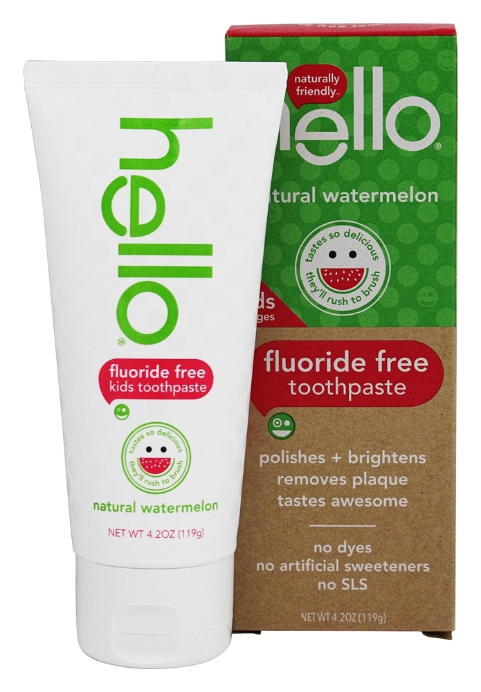 Hello Products Kids Fluoride and SLS Free Toothpaste Watermelon