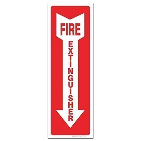 - (3 Pack) Fire Extinguisher Sign - High Quality - Self Adhesive 4 X 12