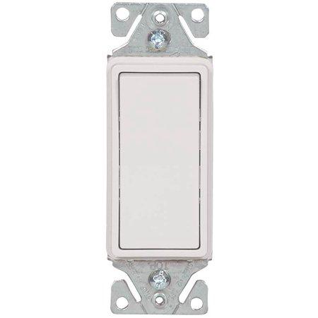 Cooper 7500 Box Decorative Standard Rocker Switch  120 277 Vac  15 A  3 Way  White