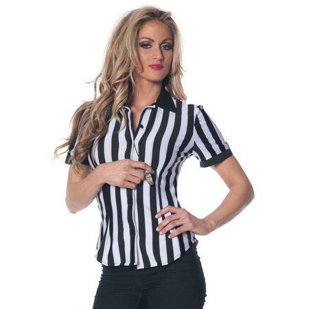 Referee Fitted Shirt Plus Size Costume for $<!---->