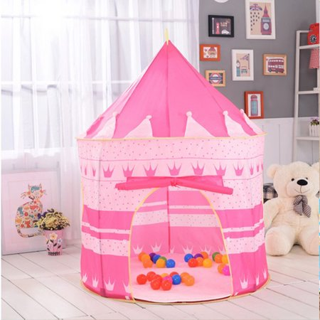 Zimtown Princess Castle Play House Large Indoor Outdoor Kids Play Tent for Girls Pink - Play Tents For Kids