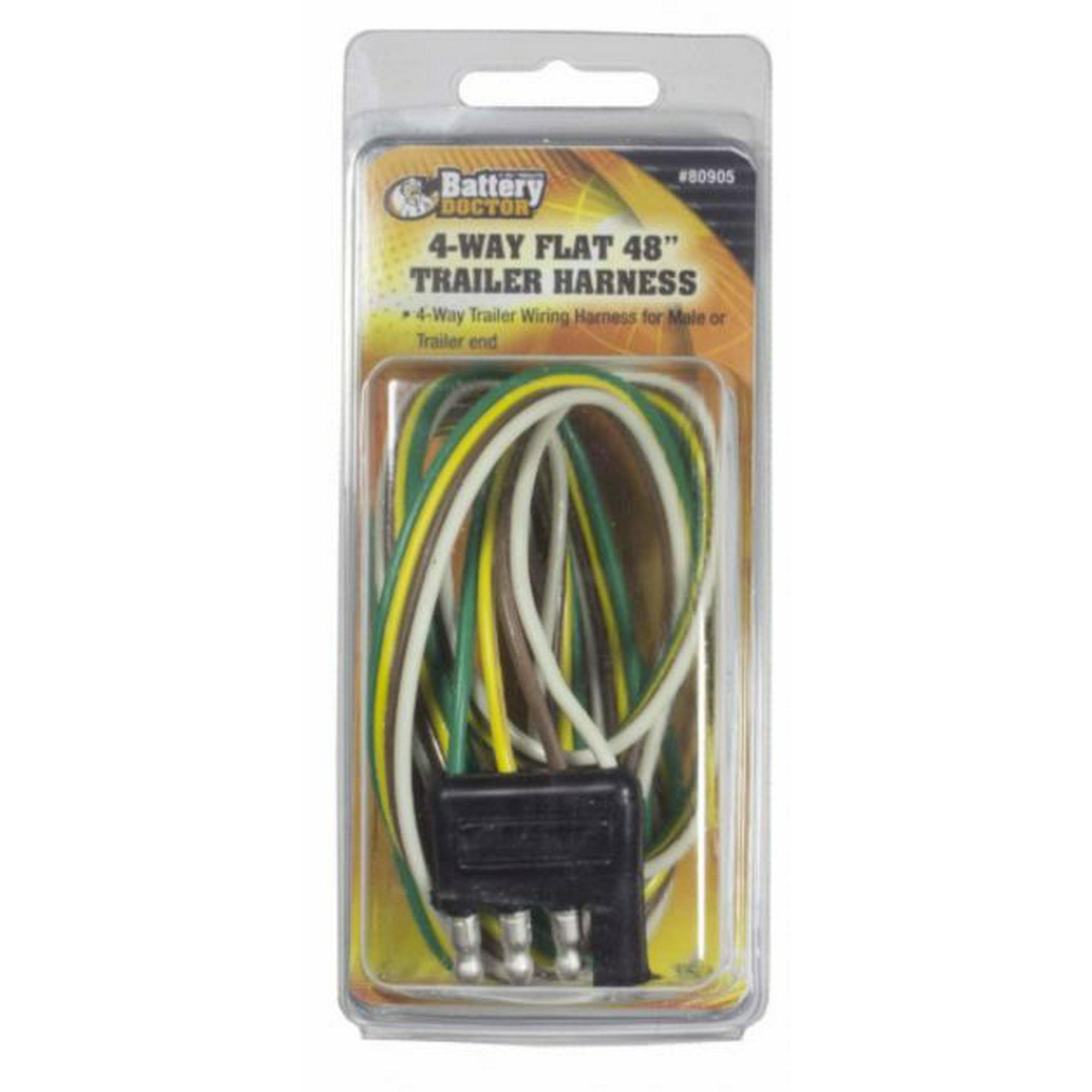 Wirthco 80905 Trailer Wiring Connector Trailer End 4 Way Male Plug 48 Inch Lead Length Walmart Canada