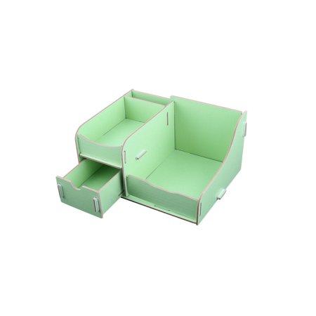 Family Wooden Cosmetics Jewelry Organizer Desk Storage Box - Diy Desk Organizer