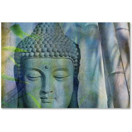 Trademark Fine Art 'Buddha with Bamboo' Canvas Art by Cora Niele