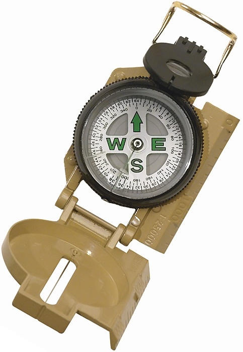 Tan Military GI Style Marching Compass by Rothco