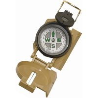 Rothco 405 Tan Aluminum Case Military Boy Scout Tactical Navigation Compass