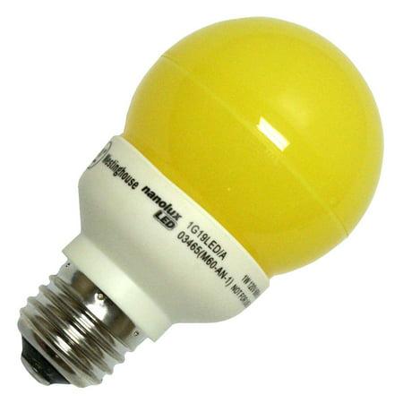 Westinghouse 03465 - 1G19/LED/A 1W G19 AMBER LED G19 Globe LED Light (G19 Globe)