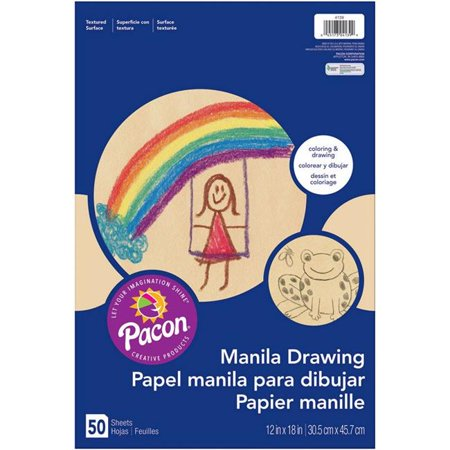 Pacon PAC4139-3 Drawing Manila Juv Paper, 12 x 18 in. - 50 Count - 3 Each - image 1 of 1