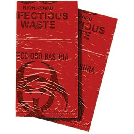 Biohazard Waste Disposal Bags, Pack of -