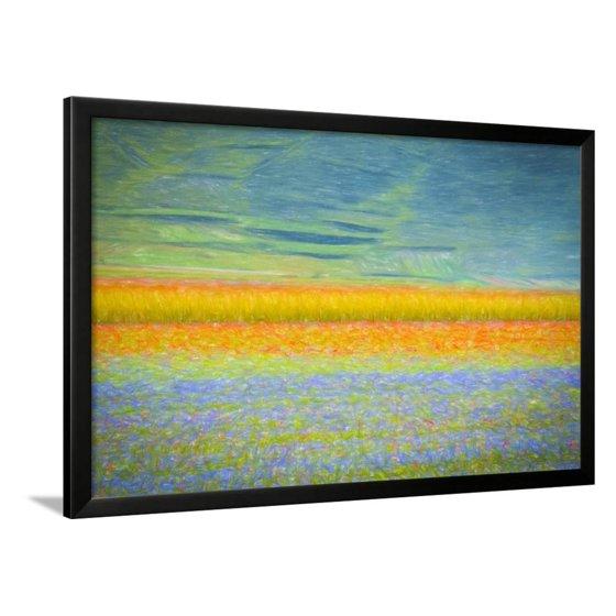 Field Colors Framed Print Wall Art By Marco Carmassi - Walmart.com