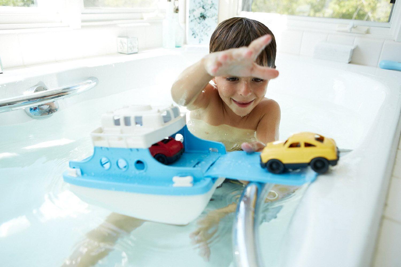 Ferry Boat with Mini Cars Bathtub Toy, Blue/White, USA, Brand Green ...