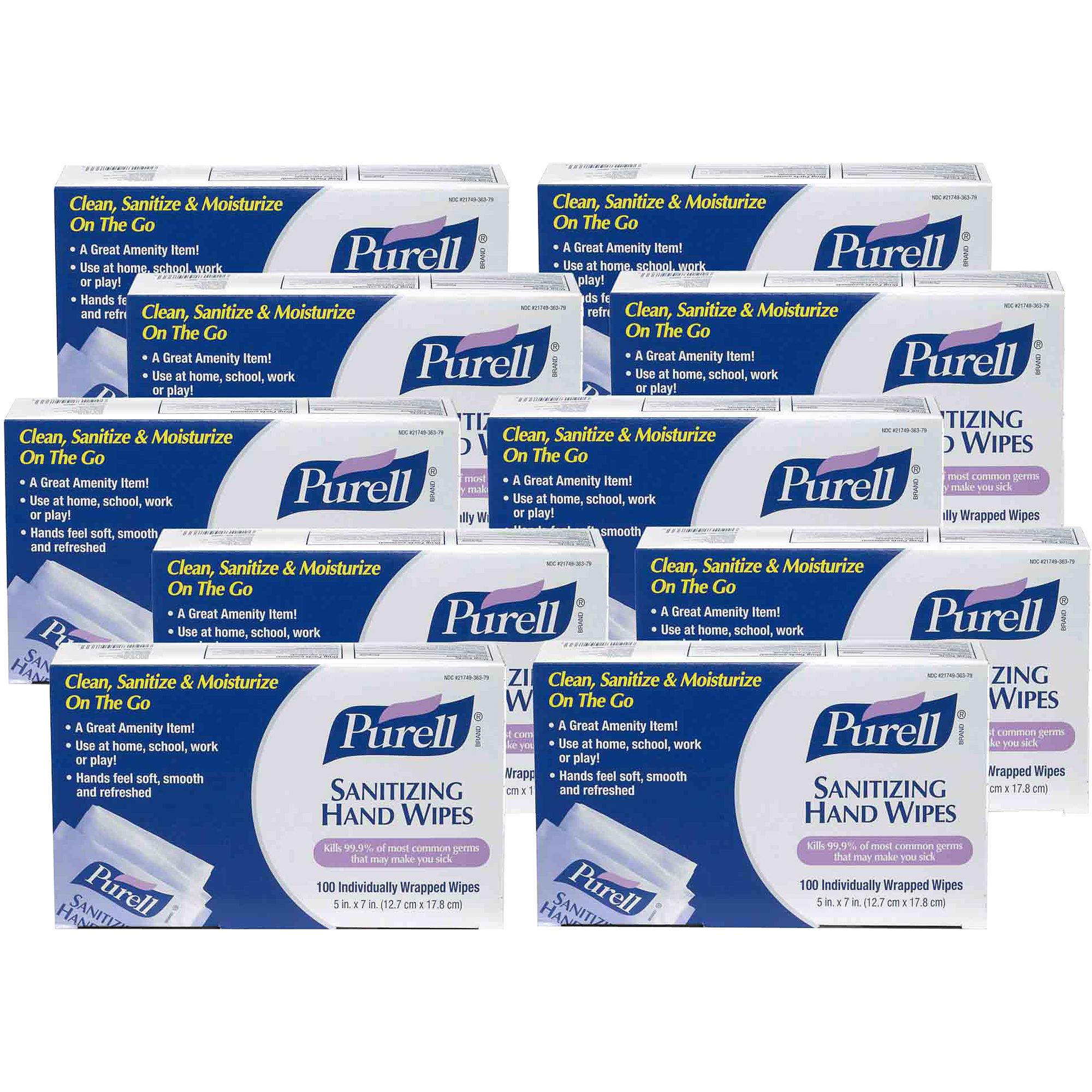 PURELL Sanitizing Hand Wipes, 100 sheets, (Pack of 4)