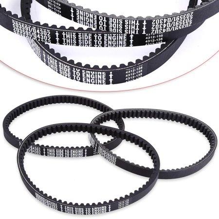 Qiilu 3 x Rubber Go Kart Engine Drive Belt For Go Karts 203591-Q43203W,  Engine Drive Belt, Drive Belt