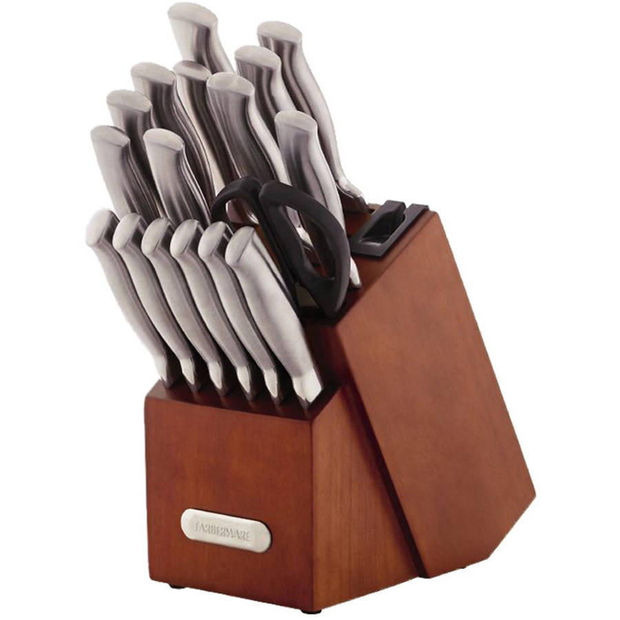 Farberware Edgekeeper Stainless Steel Knife Block Set, 18 Piece