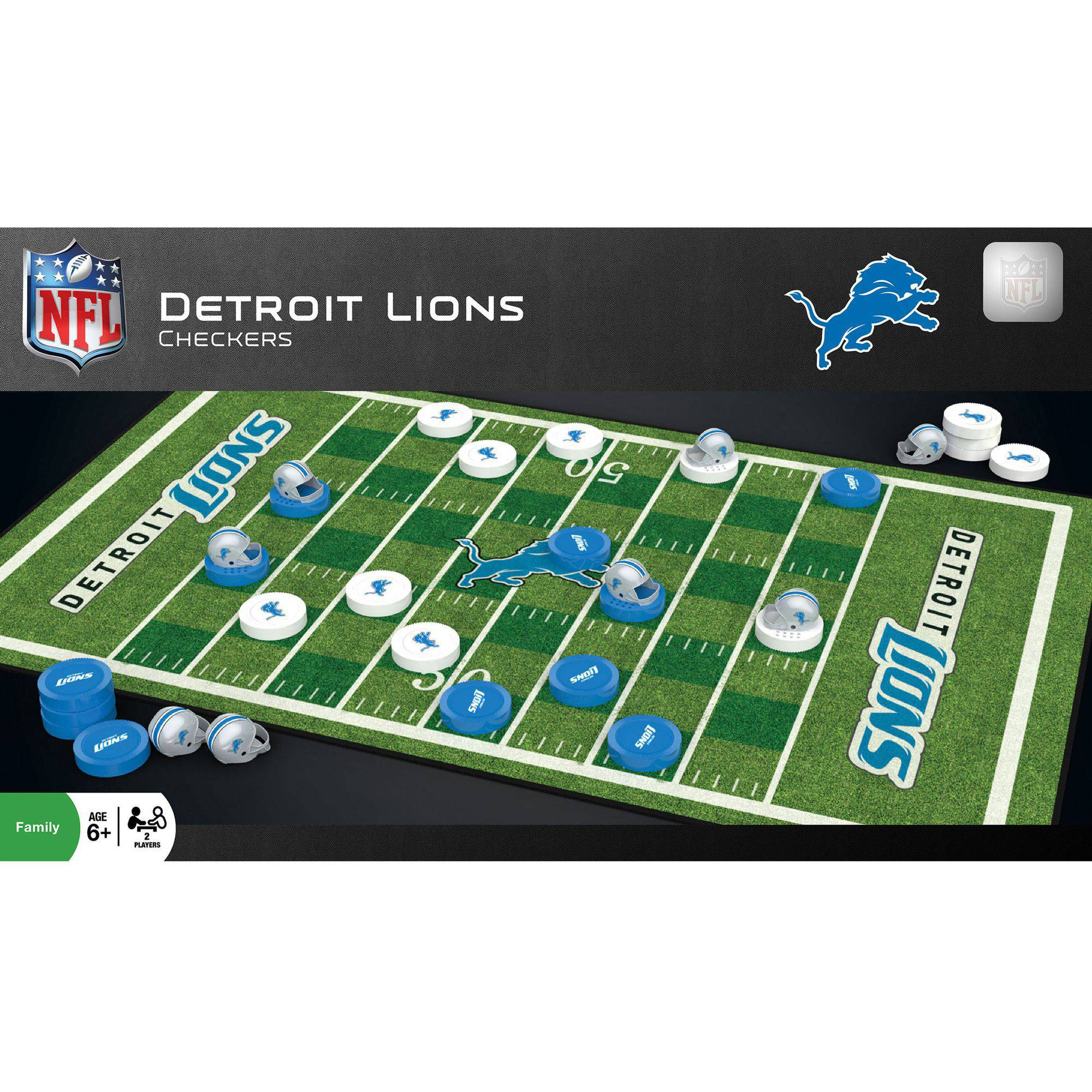 MasterPieces NFL Detroit Lions Checkers Game