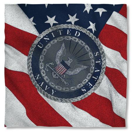 Navy Flag Seal Bandana  White (Stores That Sell Bandanas)