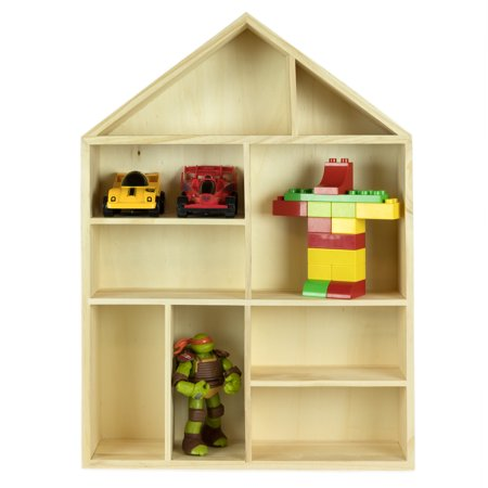 Wallniture Free Standing Or Wall Mount House Shape Wooden Shadow