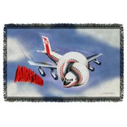 Airplane! 1980 Satirical Comedy Movie Official Poster Woven Throw Blanket