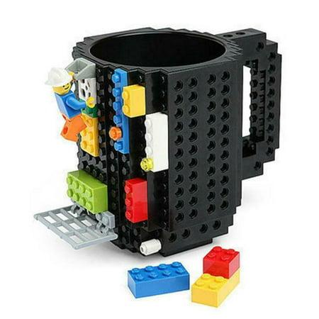 DIY Creative Lego Brick Building Mug Assemble Puzzle Blocks Gift Cup (9 Colors) - image 11 of 12