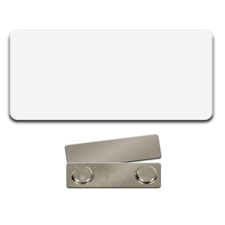 Name Tag   Badge Blanks   10 Pack   White Plastic 3 X 1 1 2