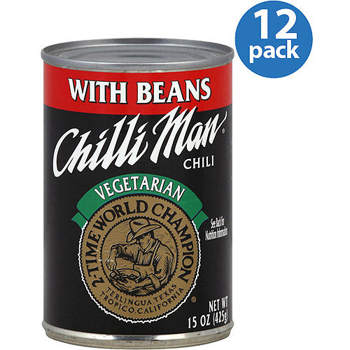 Chilli Man Vegetarian Chili with Beans, 15 oz, (Pack of 12)