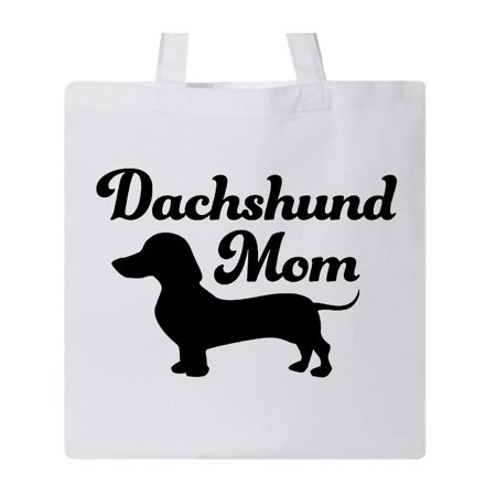 Dachshund Mom Tote Bag White One Size