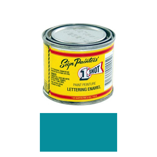 1/4 Pint 1 Shot BLUE GREEN Paint Lettering Enamel Pinstriping & Graphic Art