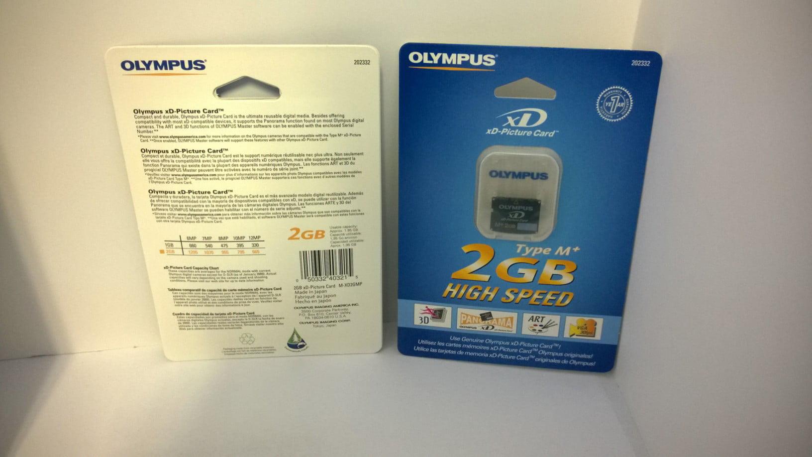 Olympus D-540 Digital Camera Memory Card 2GB xD-Picture Card M+ Type