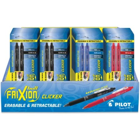 Pilot FriXion Ball Color Sticks Erasable Gel Pens 5/Pkg-2 Black, 2